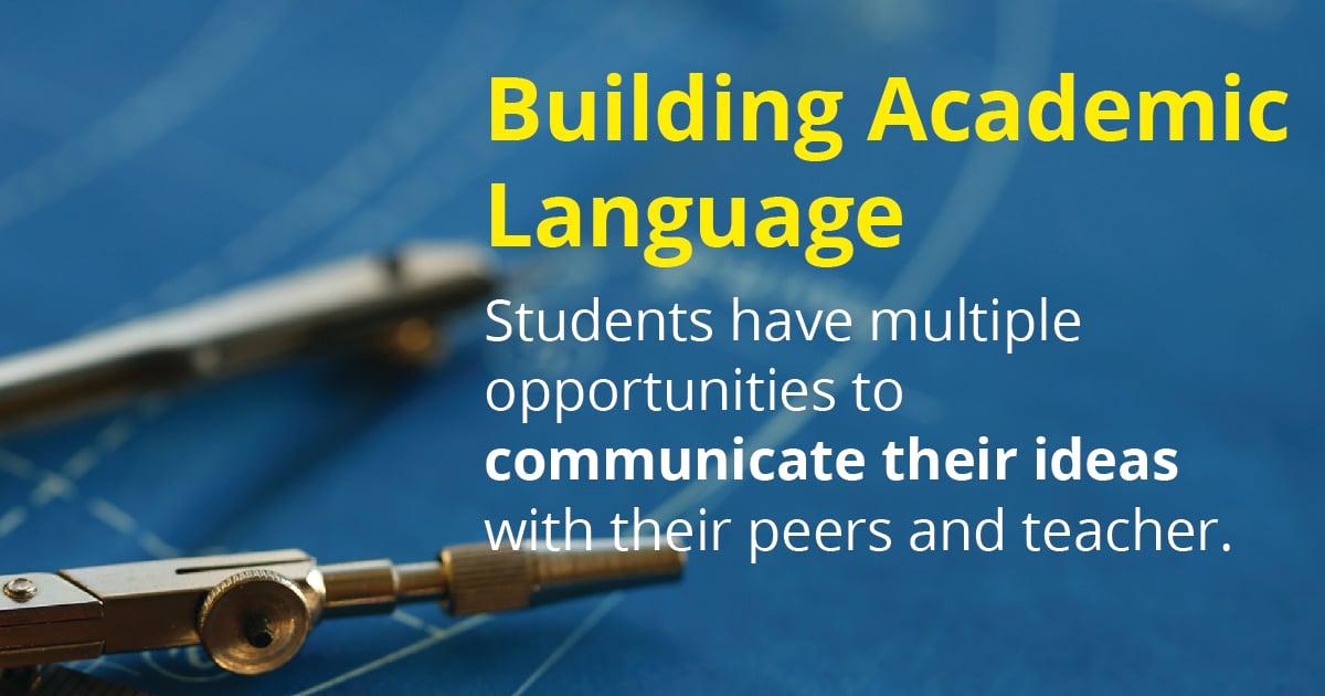 Facebook-Building Academic Language