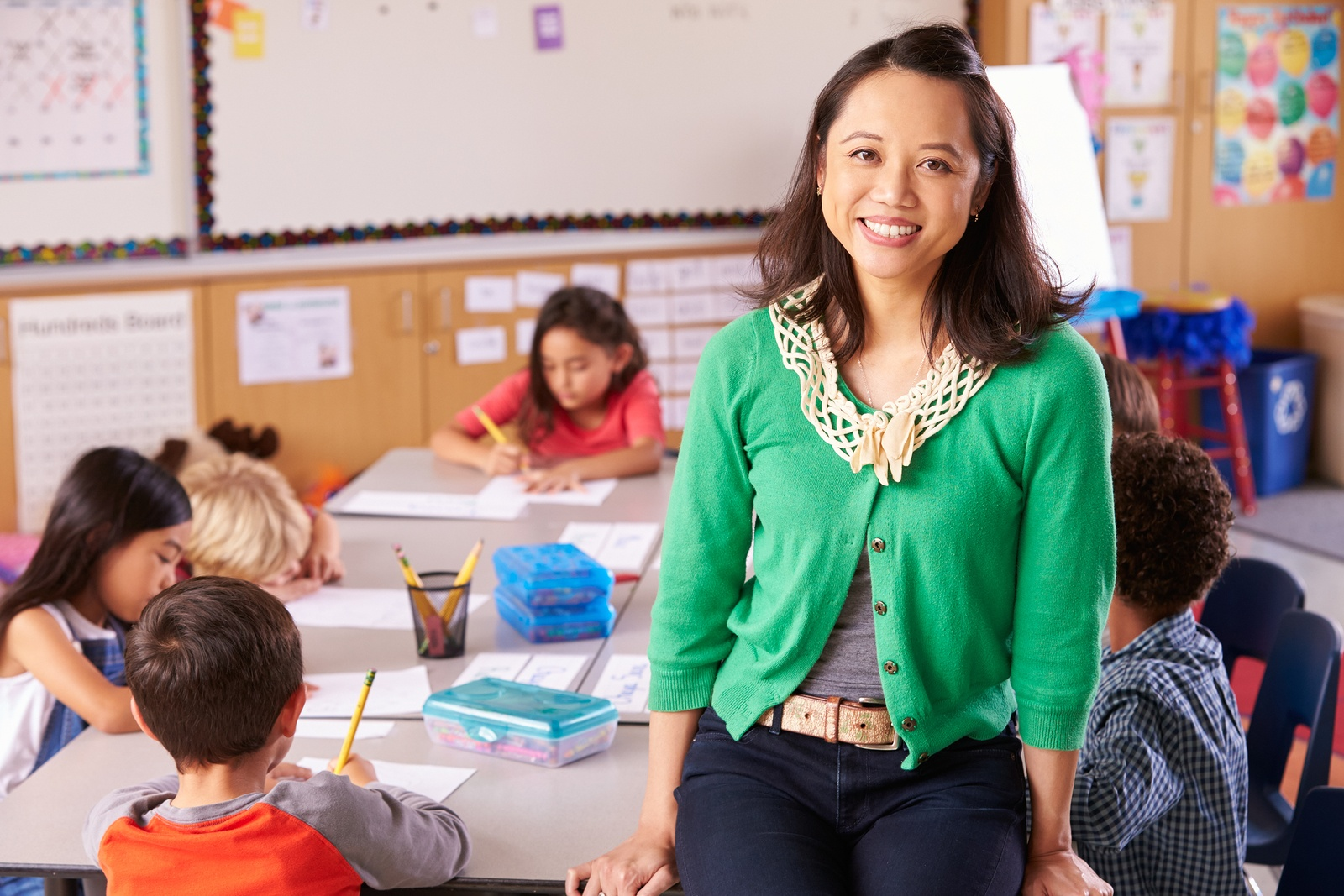 ELL teacher in a classroom