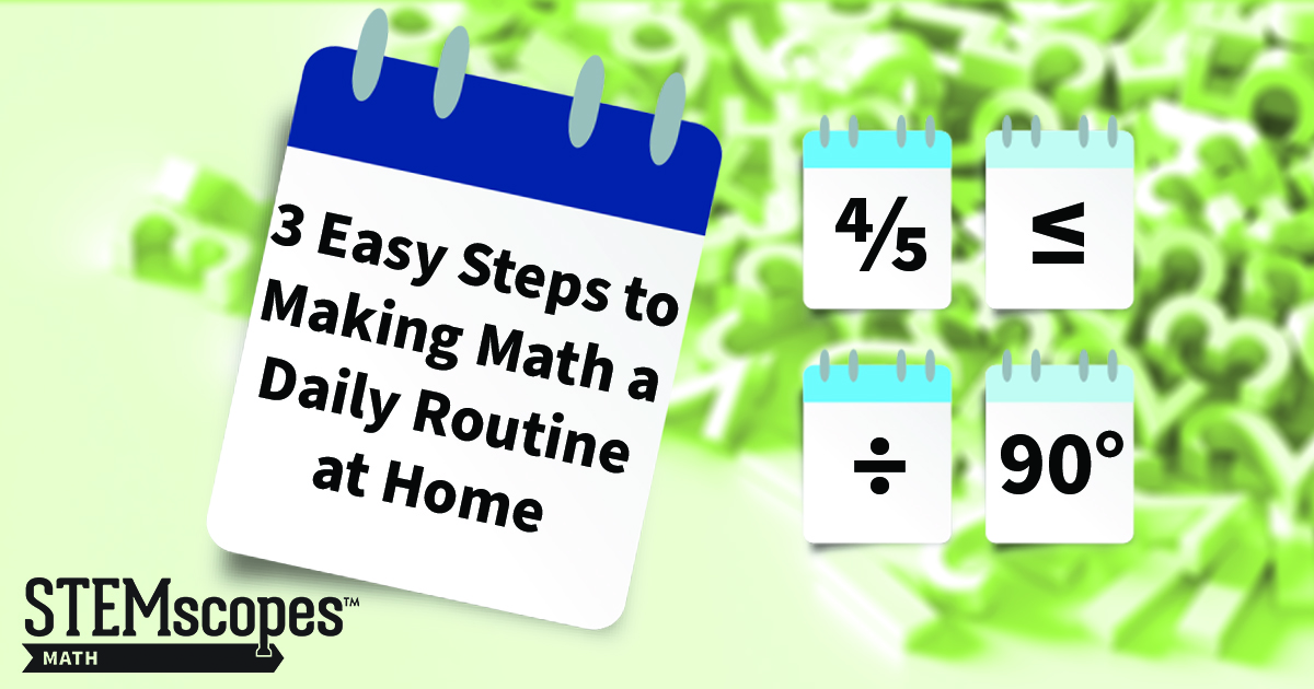 making math a daily routine